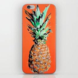 Pineapple pop art painting iPhone Skin