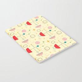 Atomic pattern umbrellas   #midcenturymodern Notebook