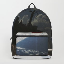 City Reflection on Glass Backpack