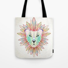 lion colorful Tote Bag