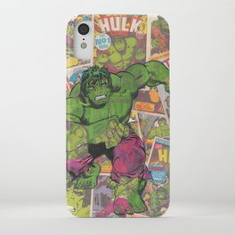 The Hulk Vintage Comic Art iPhone Case