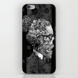 hipster floral skull 2 iPhone Skin