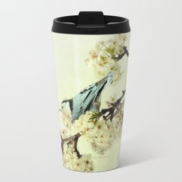 Nuthatch Bird Spring Flower Farmhouse Art Country Home Decor  A131 Travel Mug