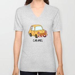 Car-a-mel Cute Candy Car Pun Unisex V-Neck