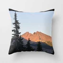 Broken Top Sunset Throw Pillow