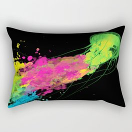 splatter jellyfish Rectangular Pillow