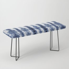 Tiki Shibori Blue Bench