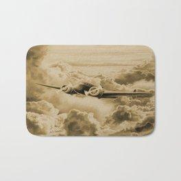 Ghost Flight- Amelia Earhart Sepia Bath Mat