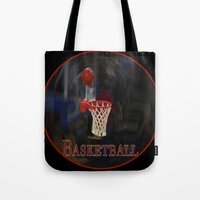 basketball Tote Bags featuring Basketball by LoRo  Art & Pictures