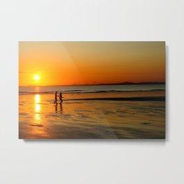Sun set walk, Pembrokeshire Metal Print