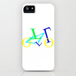 bicycle letters iPhone Case