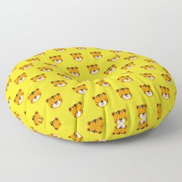 Tilly the Tiger Pattern Floor Pillow