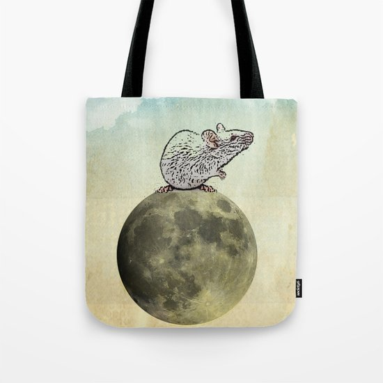 Tiny and the Cheese Moon Tote Bag