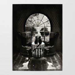 Room Skull B&W Poster