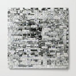 An Elite Club of Billions (P/D3 Glitch Collage Studies) Metal Print