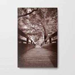 Sepia Bridge Metal Print