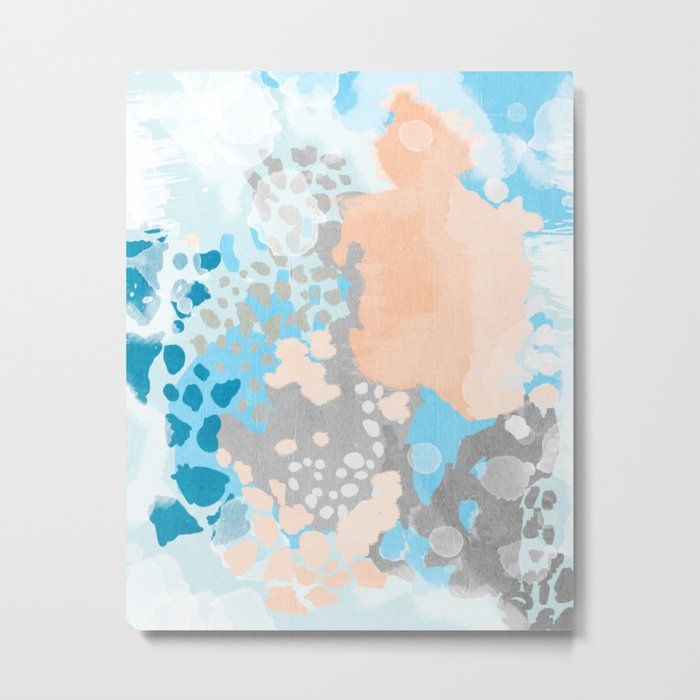 Sheyn - Modern abstract print in summer colors fresh beach design abstract painting decor Metal Print