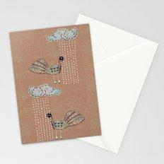 Birds in Rain Stationery Cards