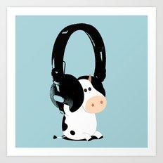 La vache mélomane Art Print