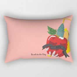 Death in the city Rectangular Pillow