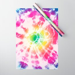 Tie-Dye Sunburst Rainbow Wrapping Paper