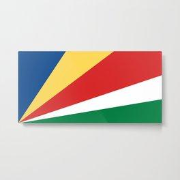 Seychelles Flag Metal Print