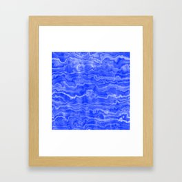 Egyptian Marble, Lapis Blue Framed Art Print