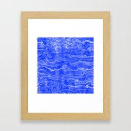 Egyptian Marble, Lapis Blue Framed Art Print