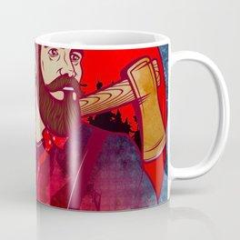 Hipster Lumberjack Red Coffee Mug