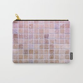 Travertine Squares Carry-All Pouch