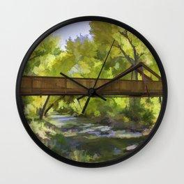 Footbridge Over Bear Creek Wall Clock