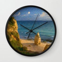 Praia da Rocha rock Wall Clock