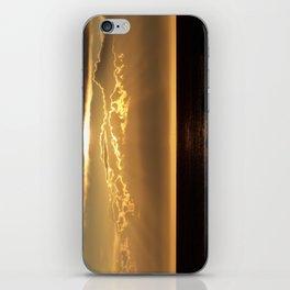 Bronze Seascape Sun rays iPhone Skin