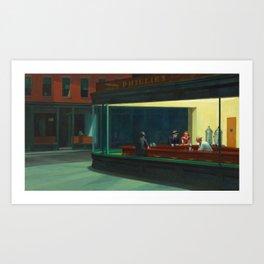 Original Nighthawks Art Print