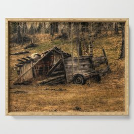 Visions Of The Past - Rustic Shed Serving Tray