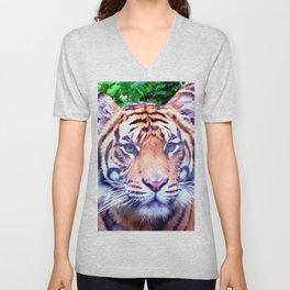 Tiger Tiger Burning Bright Unisex V-Neck