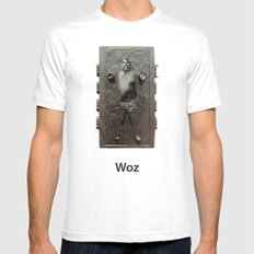 Steve Wozniak in Carbonite White MEDIUM Mens Fitted Tee