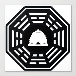 Dharma - Beehive Station (Black) Canvas Print
