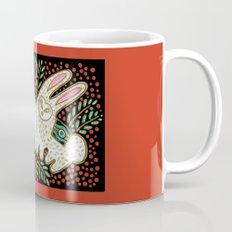 Rabbits in Red Mug