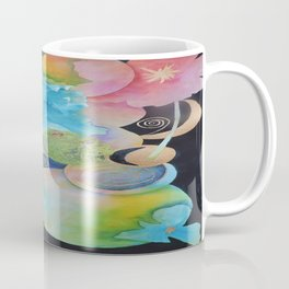 Mother Nature-The Sun, The Moon, The Earth and Some Flowers-Abstract Coffee Mug