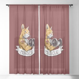 Meowscle Sheer Curtain