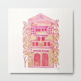 Tropical House – Pink Ombré Metal Print