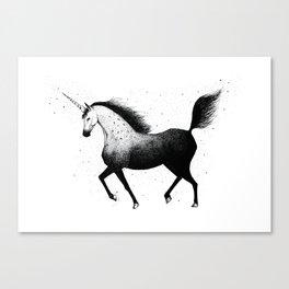 Starlight unicorn Canvas Print