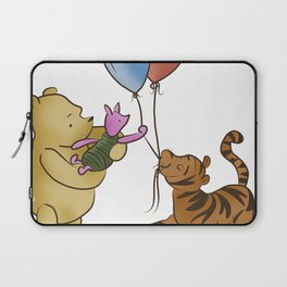 Pooh and Friends with Balloons (White/Transparent) Laptop Sleeve