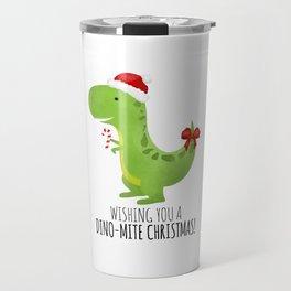 Wishing You A Dino-Mite Christmas Travel Mug