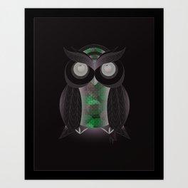 Sitting Owl Art Print
