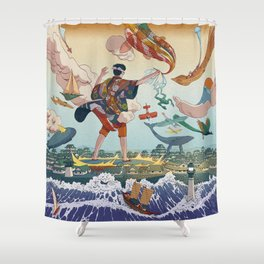 Ukiyo-e tale: The legend Shower Curtain