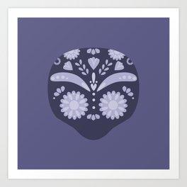 Purple Sugar Skull Art Print