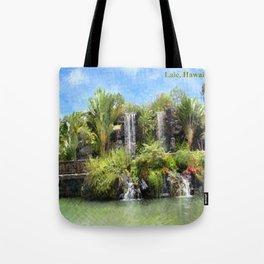 Waterfalls in Laie, Oahu Hawaii Tote Bag