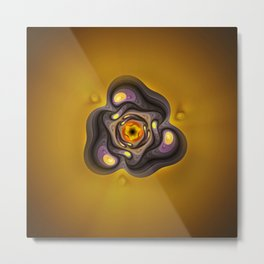 Amber Prism; aka, Primordial Soup Fractal Emulsion Metal Print